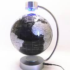 desk toy educational magnetic levitation floating maglev globe world map 8 inch