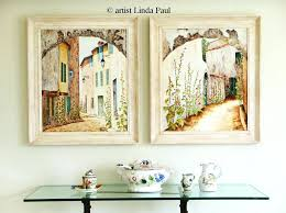 french decorative wall tiles country art decor prints within