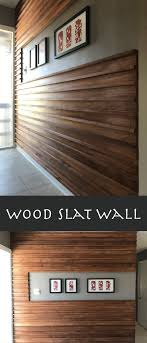 wood slat wall. Wood Slat Feature Wall For Entryway. G