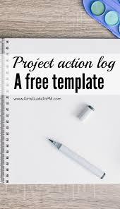 Free Project Action Log Template Project Management Management