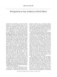 Prolegomena to Any Aesthetics of <b>Rock Music</b>