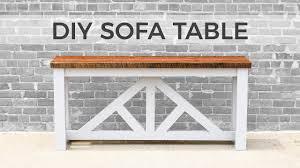easy diy sofa table. DIY Sofa Table / Console | How To Build Easy Diy Sofa Table I