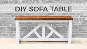 diy sofa table console table how to build