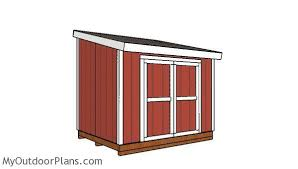 8x10 lean to shed plans myoutdoorplans free woodworking plans and projects diy shed wooden playhouse pergola bbq