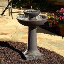 smart solar fountains outdoor decor