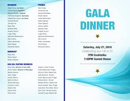 Template For A Program For An Event Event Programme Design Template Awards Dinner Blue Favored Visualize