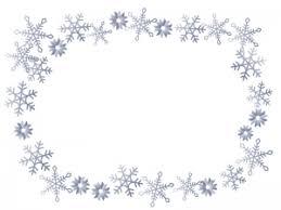 雪の結晶シルバーのフレーム枠素材 イラスト無料かわいい