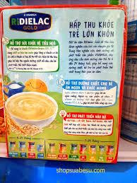 Ridielac Gold 4 gói vị mặn - Bột ăn dặm tốt cho trẻ em