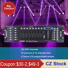 Disco Light Controller Us 33 5 45 Off Disco Light Controller 192 Channels Dmx512 Controller Console For Stage Light Party Dj Disco Operator Equipment In Stage Lighting