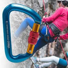 Yachee Rock Climbing Screwgate Carabiner <b>High</b> Strength <b>D</b> ...