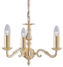 seville solid polished brass 3 light traditional chandelier