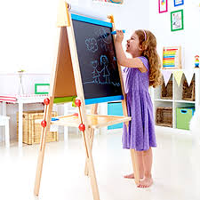 1 includes easel three paint pots and paper roll
