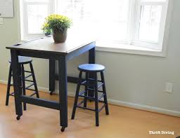 Eat in kitchen furniture Small Kitchen Before After How To Redo Refinish And Build An Eatin Thrift Diving Before And After Diy Eatin Kitchen Table Makeover