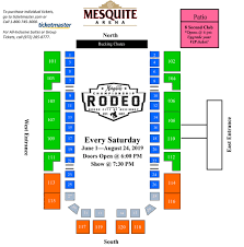 Seating Chart Mesquite Rodeo