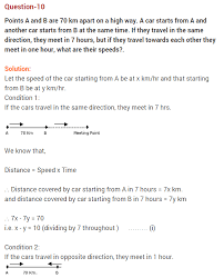 pair of linear equations in two variables cbse
