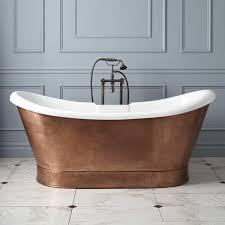 ... Bathtubs Idea, Pedestal Tubs Freestanding Tub Lowes L Rosalind Acrylic  Double Slipper Tub Copper Skirt ...