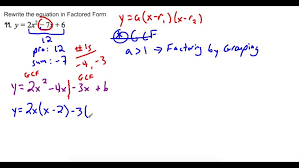 rewrite standard form into factored a greater than 1 you of polynomial maxresde factored form form