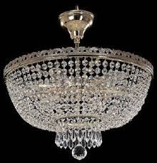 crystal chandelier ceiling mount with 6 lights silver finish swarovski crystal