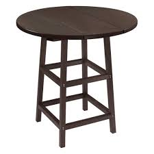 captiva casual 32 round table top with 40 legs espresso by holland bar stool company