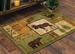 captivating moose area rug on tranquil forest accent 3 x 4 com
