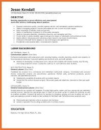 Resume For General Labor General Labor Resume General Laborer