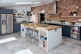 Kitchen Kitchen Island Wooden Varnished Kitchen Island. Industrial Style ...