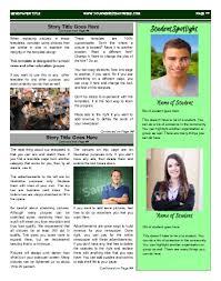 School Newspaper Layout Template Classroom Newspaper Templates