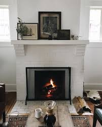 25 best ideas about white brick fireplaces on