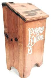 onions and potato storage potato storage box vintage wooden potatoes onions storage box case flip top