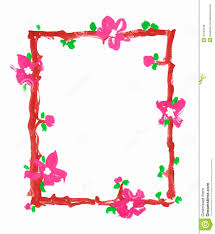 simple frame border design. Flowers Frame Border Paper Paint Sketch Simple Design M