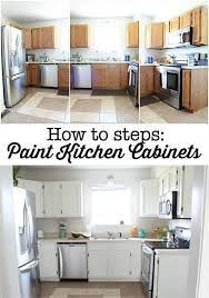 how to steps paint your kitchen cabinets