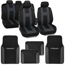 car seat covers black polyester cloth