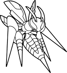 Small Picture Pokemon Coloring Pages Beedrill Coloring Page