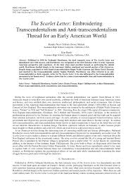 pdf the scarlet letter embroidering transcendentalism and anti transcendentalism thread for an early american world