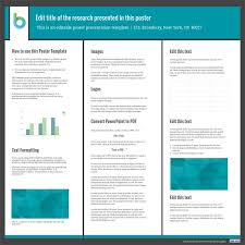 Ppt Template For Academic Presentation Presentation Poster Templates Free Powerpoint Templates Work