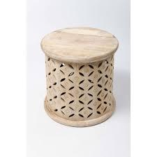 outstanding bagru round side table mango wood cotterell co inside mango wood side table popular