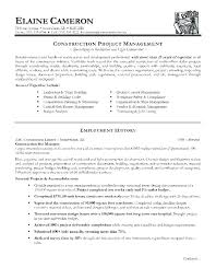 Resume Templates For Construction Amazing Construction Manager Resume Template Construction Project Manager