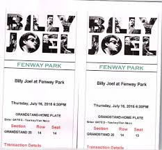 Fenway Park Concert Seating Chart Billy Joel See Billy Joel At Fenway Park Thursday July 16th