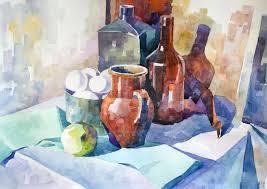 Картина акварелью Натюрморт watercolors  Картина акварелью Натюрморт