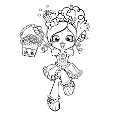 Shopkins Shoppies Colouring Pages Printable Coloring Sheet Printable