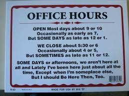 Office Hours Sign Template Free Printable Business Unique
