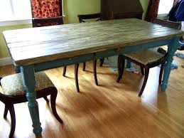 reclaimed wood dining table diy plank rustic round distressed luxury kitchen beautiful di