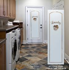 laundry room doors with glass etching basket by sans soucie
