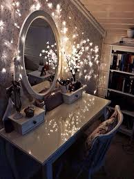 dressing table lighting. Fairy Lights Around The Dressing Table \u003d A MUST! Lighting D