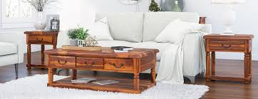 baer rustic wood 3 piece coffee table set with drawers
