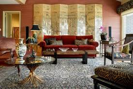 Asian living room furniture Arabic Modern Wonderful Asian Living Room With Divider And Red Sofa Asian Interior Design Can Create Serene Wearefound Home Design Wonderful Asian Living Room With Divider And Red Sofa Asian