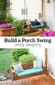 beautiful buildable wooden porch swing