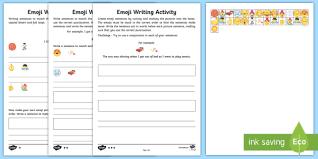 Emoji Sentence Writing Differentiated Worksheet Worksheets