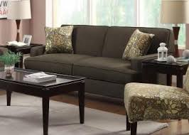 finley transitional styled sofa in brown linen upholstery bana