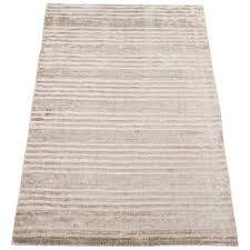 contemporary bamboo silk rug with striped design for